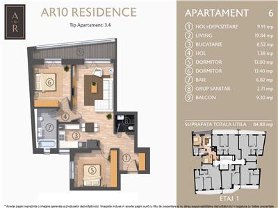 Vanzare apartament 3 camere Dacia- Eminescu, Bucuresti
