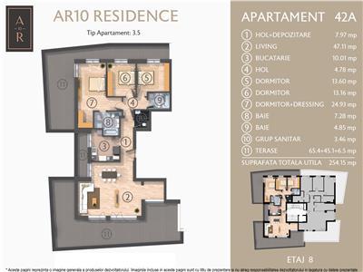 Vanzare apartament 4 camere penthouse Dacia - Eminescu, Bucuresti